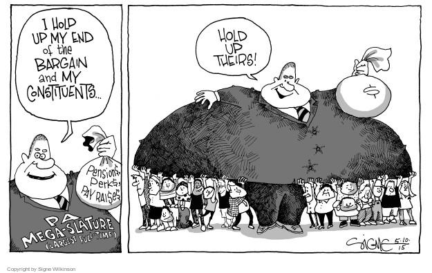 Cartoonist Signe Wilkinson  Signe Wilkinson's Editorial Cartoons 2015-05-10 support