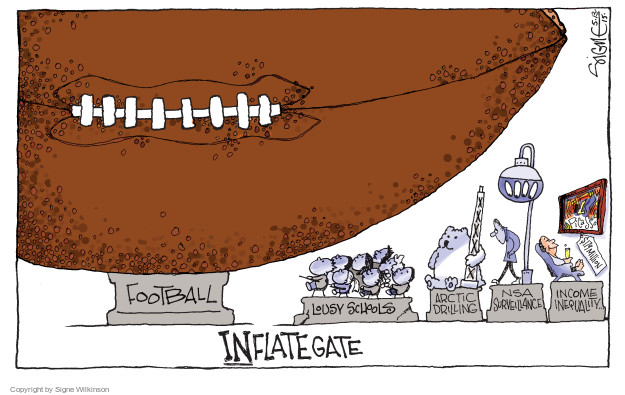 Football. Lousy schools. Arctic drilling. NSA surveillance. Income inequality. Picasso. $179 million. Inflategate.