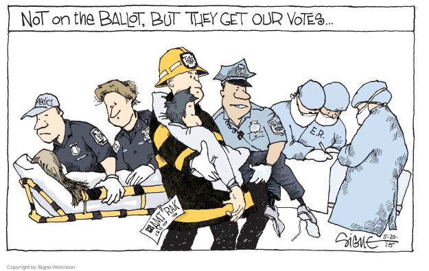 Signe Wilkinson  Signe Wilkinson's Editorial Cartoons 2015-05-20 emergency