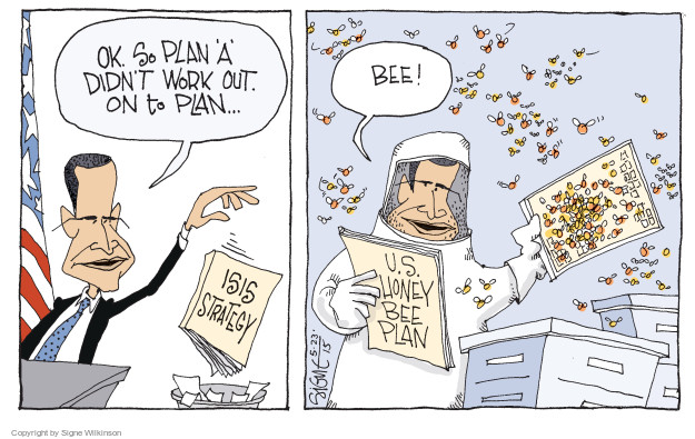 Cartoonist Signe Wilkinson  Signe Wilkinson's Editorial Cartoons 2015-05-23 strategy