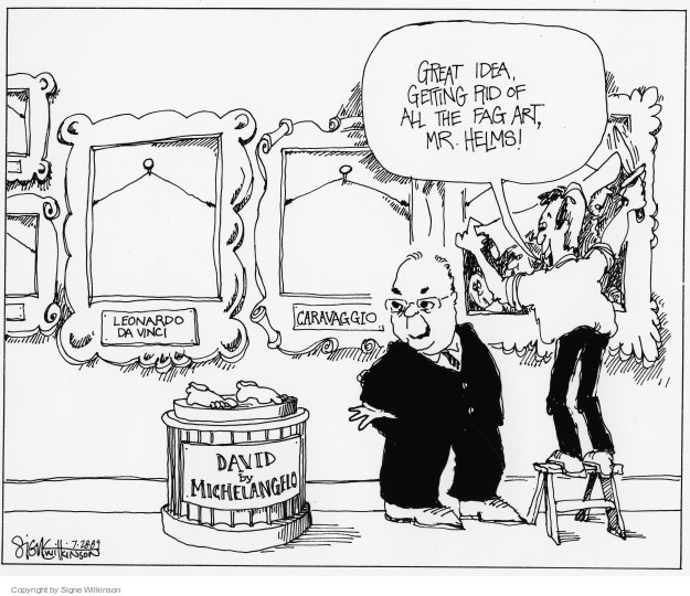 Signe Wilkinson  Signe Wilkinson's Editorial Cartoons 1989-07-28 art history
