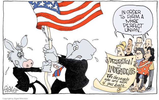 Cartoonist Signe Wilkinson  Signe Wilkinson's Editorial Cartoons 2015-07-03 Declaration of Independence