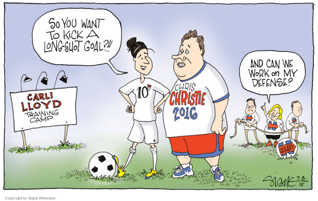 Cartoonist Signe Wilkinson  Signe Wilkinson's Editorial Cartoons 2015-07-08 athlete