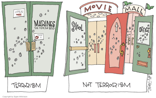 Cartoonist Signe Wilkinson  Signe Wilkinson's Editorial Cartoons 2015-07-23 Marines