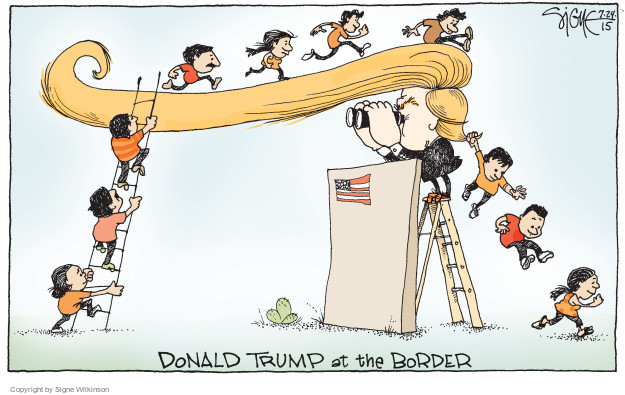 Cartoonist Signe Wilkinson  Signe Wilkinson's Editorial Cartoons 2015-07-24 border