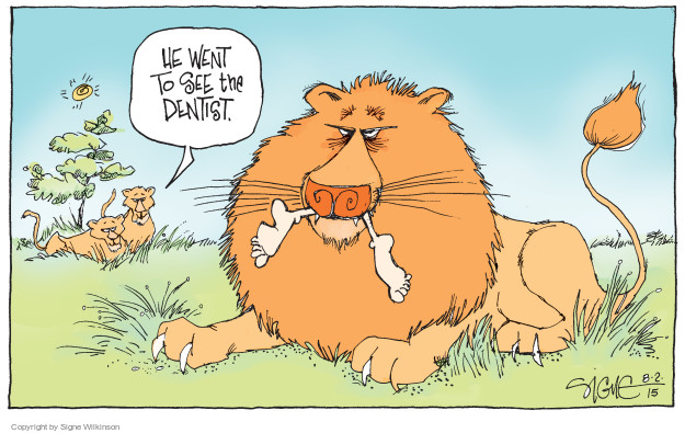 Cartoonist Signe Wilkinson  Signe Wilkinson's Editorial Cartoons 2015-08-02 dentist