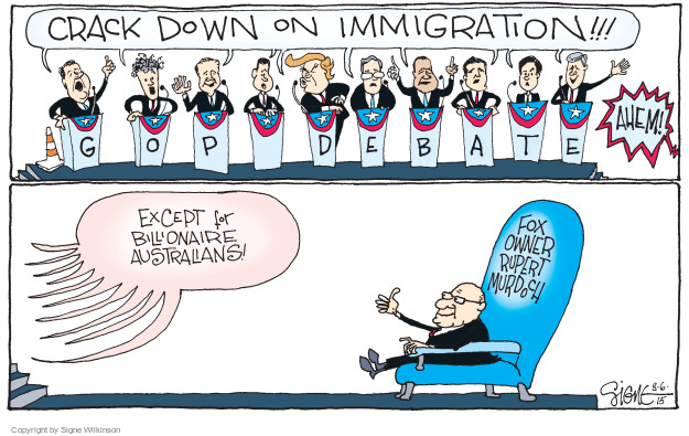 Signe Wilkinson  Signe Wilkinson's Editorial Cartoons 2015-08-06 debate