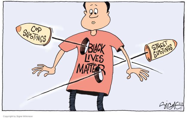 Cartoonist Signe Wilkinson  Signe Wilkinson's Editorial Cartoons 2015-08-13 racial discrimination