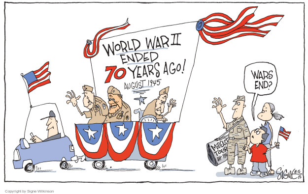 Cartoonist Signe Wilkinson  Signe Wilkinson's Editorial Cartoons 2015-08-15 Iraq