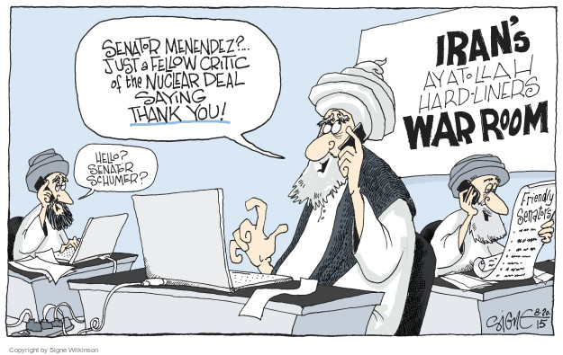 Cartoonist Signe Wilkinson  Signe Wilkinson's Editorial Cartoons 2015-08-20 nuclear