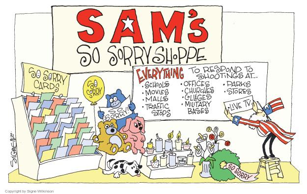 Cartoonist Signe Wilkinson  Signe Wilkinson's Editorial Cartoons 2015-08-30 arms
