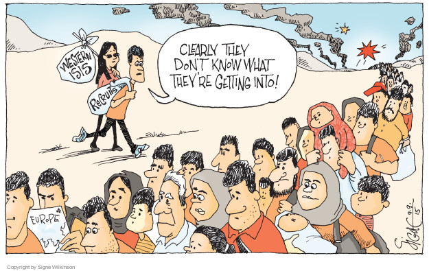 Cartoonist Signe Wilkinson  Signe Wilkinson's Editorial Cartoons 2015-09-09 recruitment