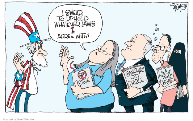 Cartoonist Signe Wilkinson  Signe Wilkinson's Editorial Cartoons 2015-09-10 laws