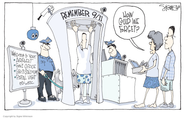 Cartoonist Signe Wilkinson  Signe Wilkinson's Editorial Cartoons 2015-09-13 airport security