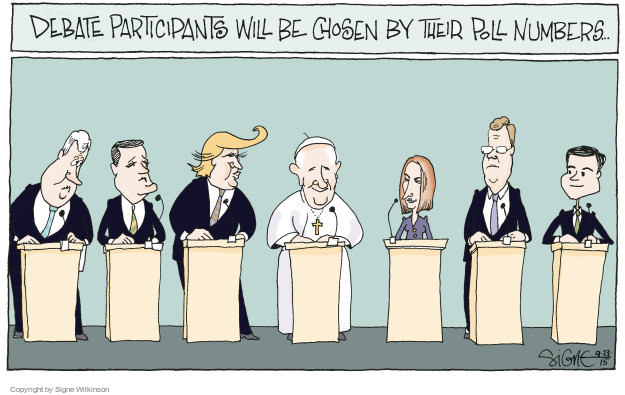 Debate participants will be chosen by their poll numbers �