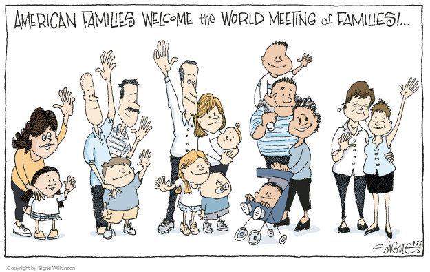 American families welcome the World Meeting of Families.
