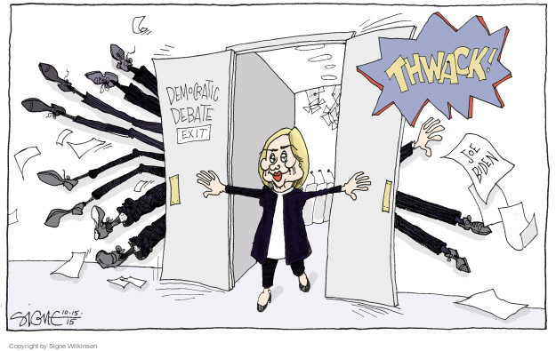 Signe Wilkinson  Signe Wilkinson's Editorial Cartoons 2015-10-15 debate
