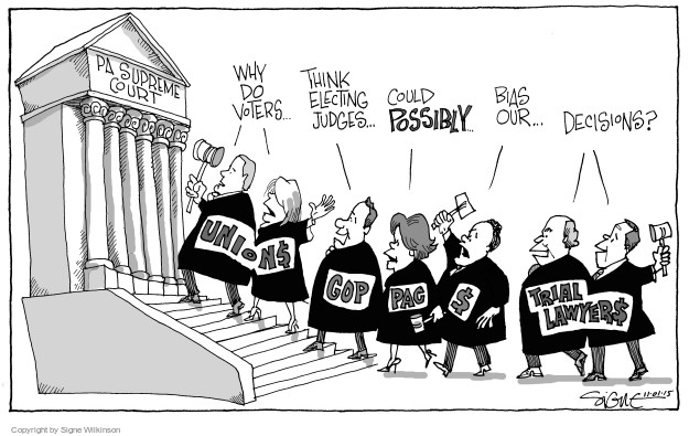 Cartoonist Signe Wilkinson  Signe Wilkinson's Editorial Cartoons 2015-11-01 court decision