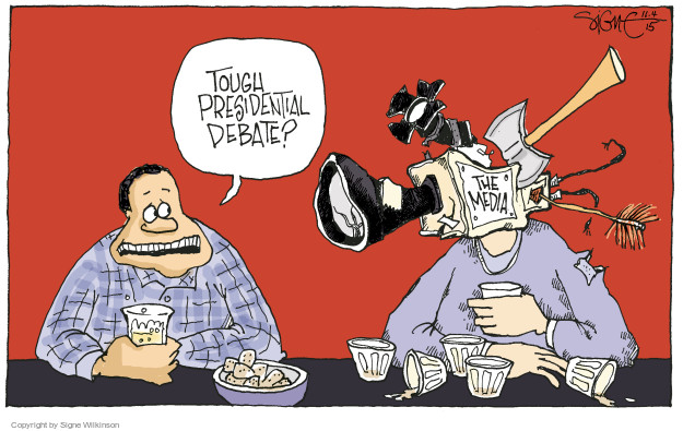 Signe Wilkinson  Signe Wilkinson's Editorial Cartoons 2015-11-04 debate