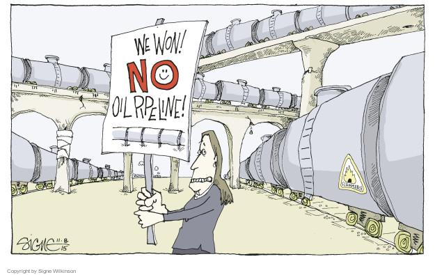 Signe Wilkinson  Signe Wilkinson's Editorial Cartoons 2015-11-08 infrastructure