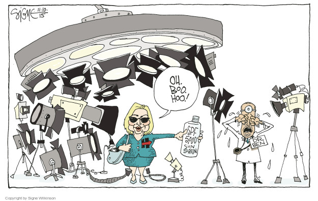 Cartoonist Signe Wilkinson  Signe Wilkinson's Editorial Cartoons 2015-11-10 biography