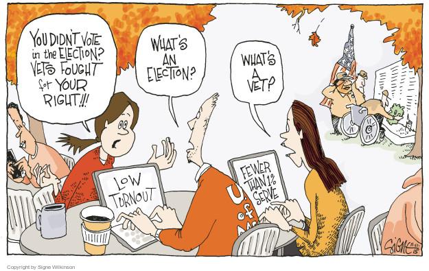 Signe Wilkinson  Signe Wilkinson's Editorial Cartoons 2015-11-11 election day
