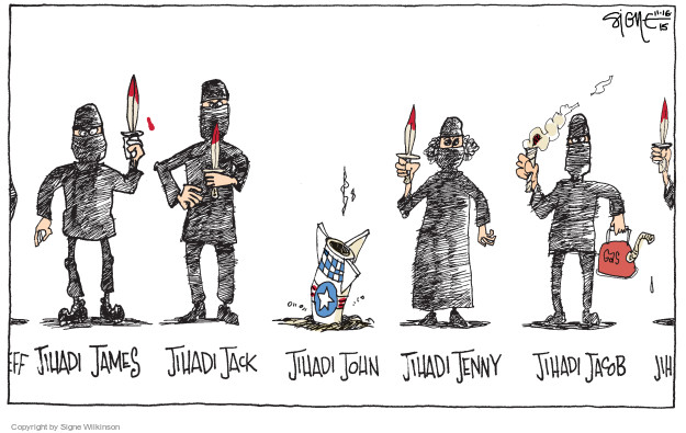 Signe Wilkinson  Signe Wilkinson's Editorial Cartoons 2015-11-16 John