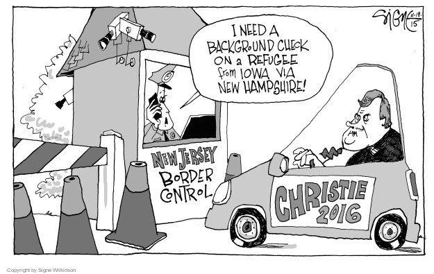 Signe Wilkinson  Signe Wilkinson's Editorial Cartoons 2015-11-19 candidate