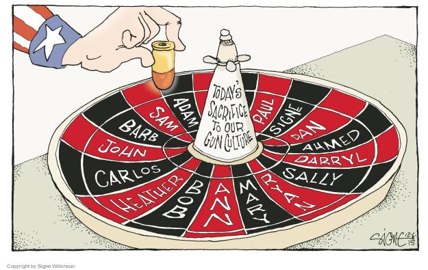 Signe Wilkinson  Signe Wilkinson's Editorial Cartoons 2015-12-06 John