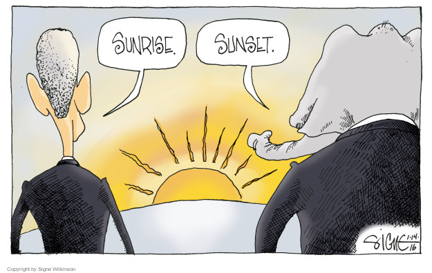 Signe Wilkinson  Signe Wilkinson's Editorial Cartoons 2016-01-15 Barack Obama