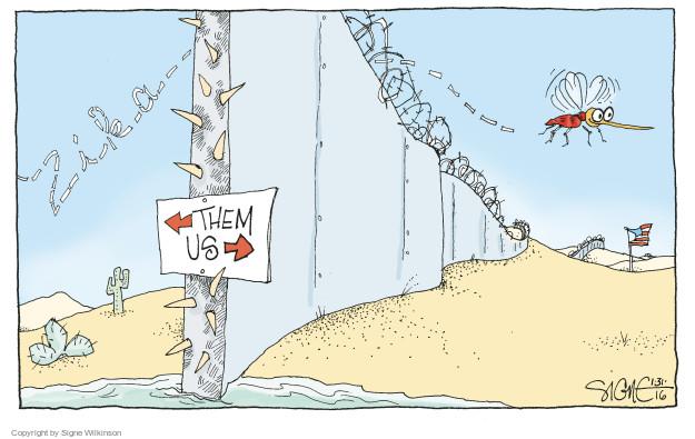 Signe Wilkinson  Signe Wilkinson's Editorial Cartoons 2016-01-31 border fence