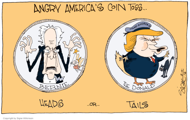 Signe Wilkinson  Signe Wilkinson's Editorial Cartoons 2016-02-11 coin