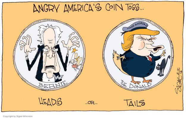 Signe Wilkinson  Signe Wilkinson's Editorial Cartoons 2016-02-11 Bernie Sanders
