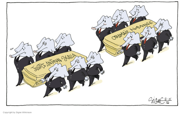 Signe Wilkinson  Signe Wilkinson's Editorial Cartoons 2016-02-15 Barack Obama