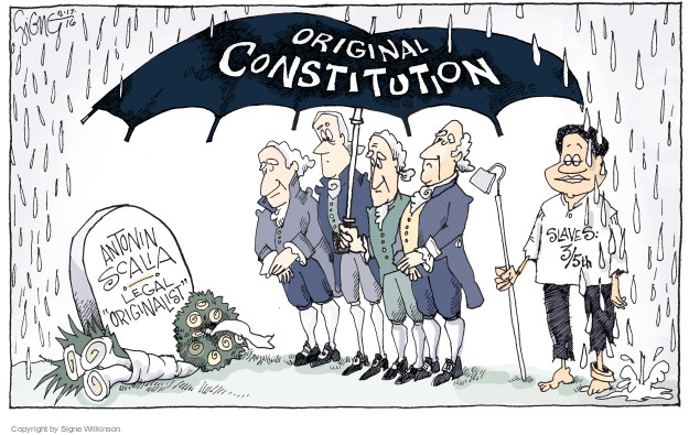 Signe Wilkinson  Signe Wilkinson's Editorial Cartoons 2016-02-17 Constitution
