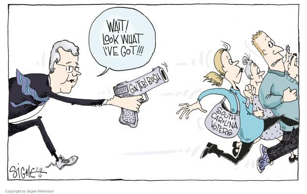 Cartoonist Signe Wilkinson  Signe Wilkinson's Editorial Cartoons 2016-02-18 gun rights