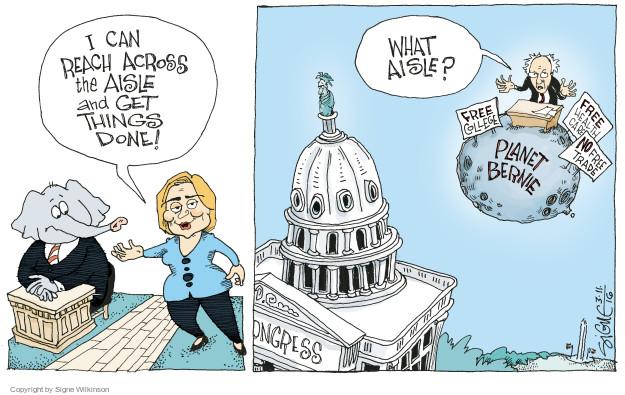 Signe Wilkinson  Signe Wilkinson's Editorial Cartoons 2016-03-11 2016 Election Hillary Clinton
