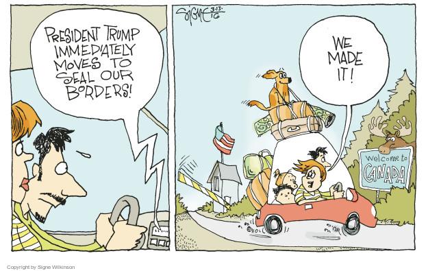 Cartoonist Signe Wilkinson  Signe Wilkinson's Editorial Cartoons 2016-03-13 emigration