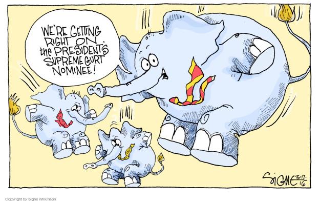 Cartoonist Signe Wilkinson  Signe Wilkinson's Editorial Cartoons 2016-03-20 supreme