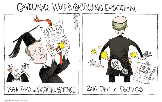 Cartoonist Signe Wilkinson  Signe Wilkinson's Editorial Cartoons 2016-03-24 wolf