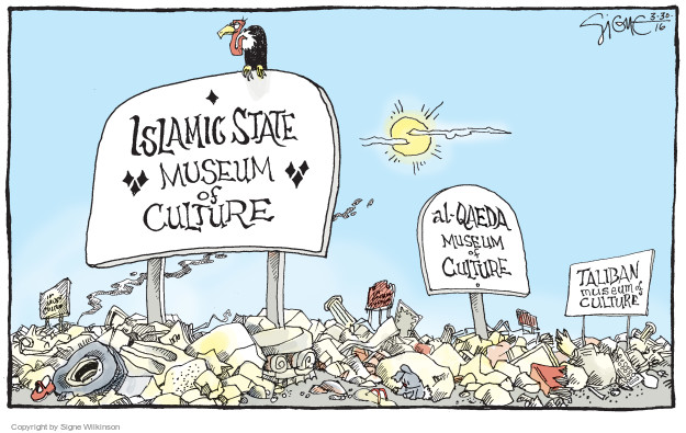 Cartoonist Signe Wilkinson  Signe Wilkinson's Editorial Cartoons 2016-03-30 terrorist