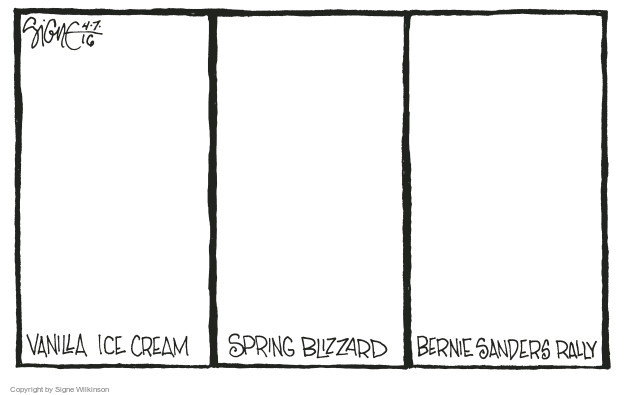 Cartoonist Signe Wilkinson  Signe Wilkinson's Editorial Cartoons 2016-04-07 support