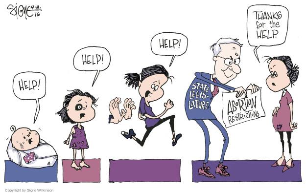 Cartoonist Signe Wilkinson  Signe Wilkinson's Editorial Cartoons 2016-04-08 equality