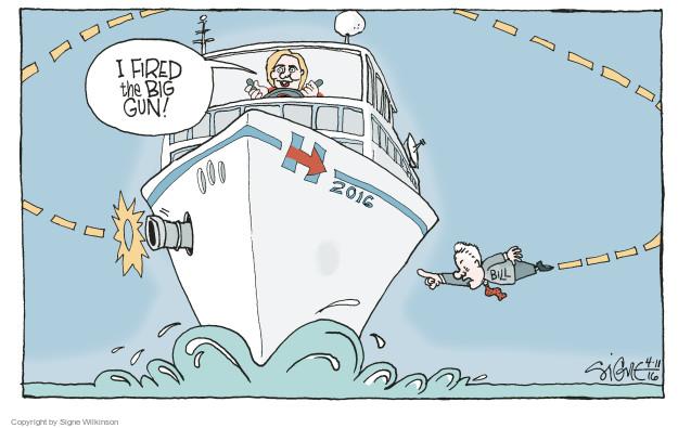 Signe Wilkinson  Signe Wilkinson's Editorial Cartoons 2016-04-10 2016 Election Hillary Clinton