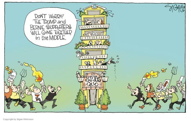 Cartoonist Signe Wilkinson  Signe Wilkinson's Editorial Cartoons 2016-04-14 support