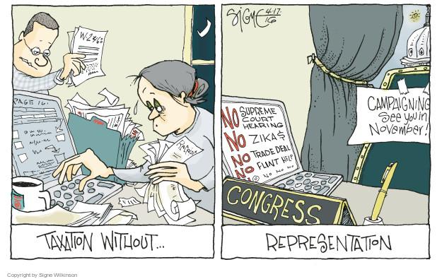 Signe Wilkinson  Signe Wilkinson's Editorial Cartoons 2016-04-17 congress election