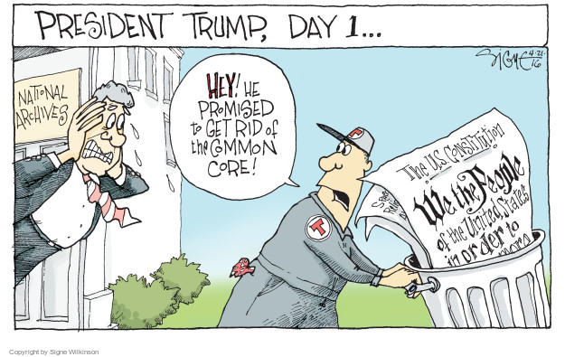 Signe Wilkinson  Signe Wilkinson's Editorial Cartoons 2016-04-21 Constitution