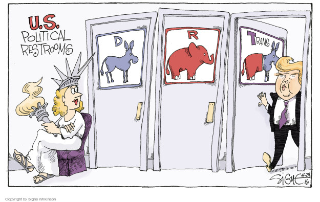 Signe Wilkinson  Signe Wilkinson's Editorial Cartoons 2016-04-24 democratic party