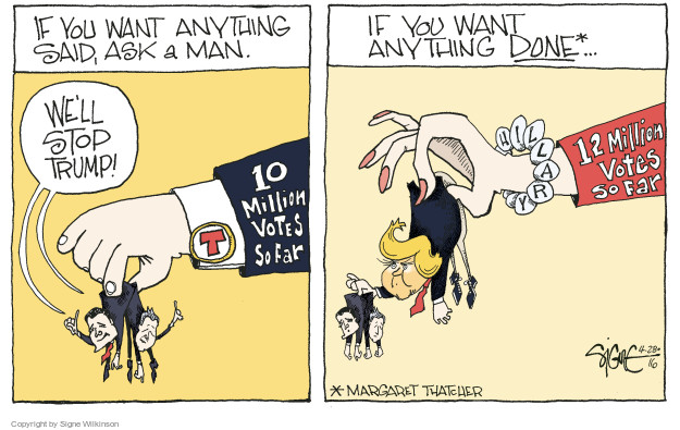 Cartoonist Signe Wilkinson  Signe Wilkinson's Editorial Cartoons 2016-04-28 strategy