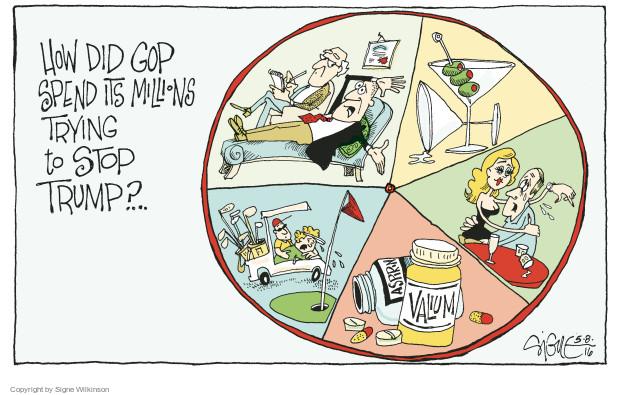 Cartoonist Signe Wilkinson  Signe Wilkinson's Editorial Cartoons 2016-05-08 million